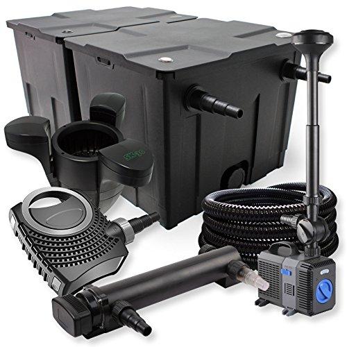 SunSun Kit de Filtration de Bassin 60000l 24W UV Stérilisateur NEO7000 Pompe Tuyau Fontaine Skimmer