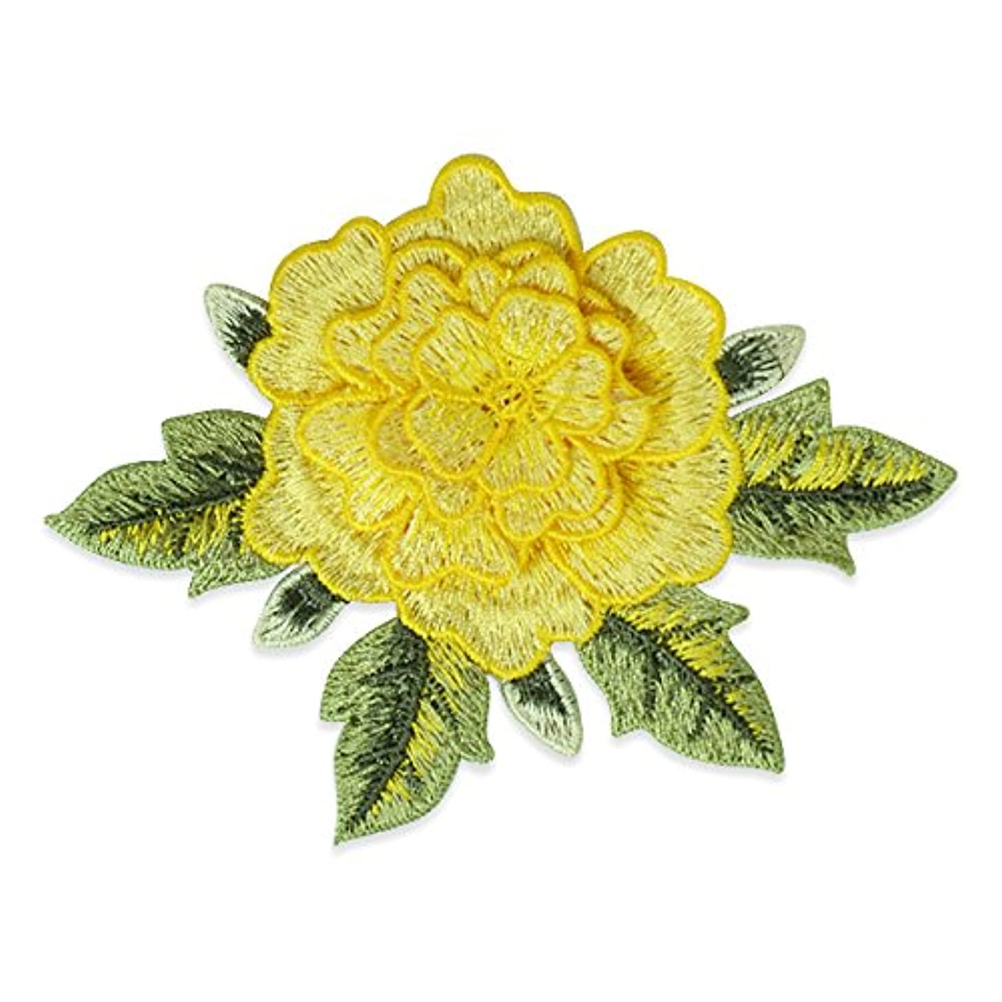 Expo International SM998YL Embroidery Flower Patch, Yellow