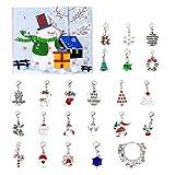 Holibanna 1 Juego Adviento Calendario de Adviento de Navidad 2020 Pulsera DIY Calendario de Adviento de Navidad Pulsera Conjunto de Collar para Niños Niñas Joyería Colgante (Pulsera de Navidad 5)