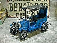 Ansimple ブリキ風 クラシックカー ミニチュア アンティーク レトロ 飾り ディスプレイ 置物 インテリア 雑貨 (ブルー)