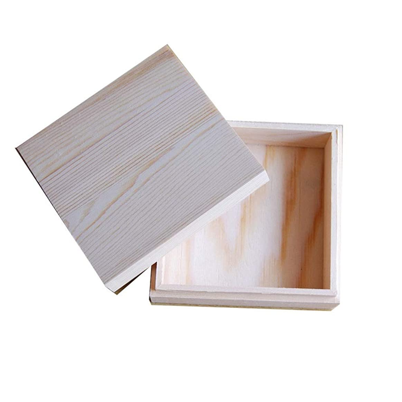 同化するコンテンツ松明エッセンシャルオイルの保管 木製のエッセンシャルオイルストレージボックス安全に油を維持するためのベスト (色 : Natural, サイズ : 11.5X11.5X5CM)