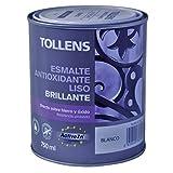 Tollens 8710 Esmalte Antioxidante Liso Brillo, Blanco, 750 ml