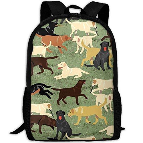 TTmom Schulrucksack,Schüler Bag,Rucksack Damen Herren Vintage More Labradors Are Fetching College Laptop Backpack Student School Bookbag Rucksack Travel Daypack
