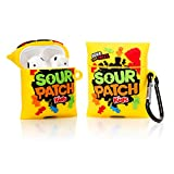 YIGEYI Silikon Hülle Kompatibel mit Airpods 1 und 2 Funny Cute 3D Cartoon Hülle Cover[Lustige Snacks Series 2] (Sour Patch)