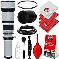 Opteka 650–1300mm (with 2x - 1300–2600mm f / 8手動望遠レンズ+ UV for Nikon d5、d4、d810、d800、d750、d610、d500、d7200、d7100、d5500、d5300、d5200、d3400、d3300、d3200デジタル一眼レフカメラ