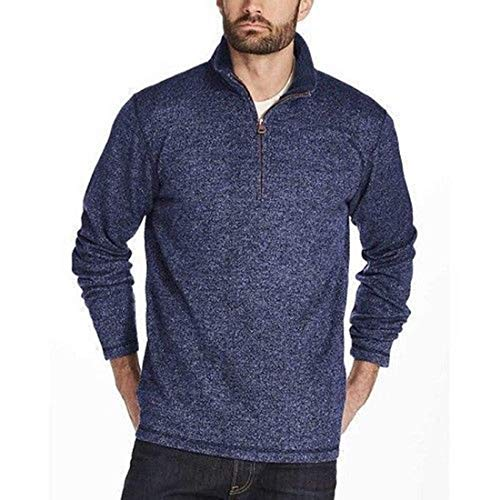 Weatherproof Vintage Men's ¼ Zip Sweater Fleece Pullover (X-Large, Denim)