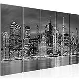 decoración de la pared Tabla Nueva York - 150 x 60 cm Vista de impresión en lienzo Salón Apartamento - listo para colgar - 014056c