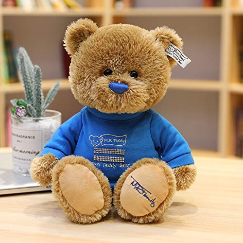N / A Couple Teddy Bear With Cloth Plush Toys Dolls Stuffed Toy Kids Baby Children Girl Birthday 35cm