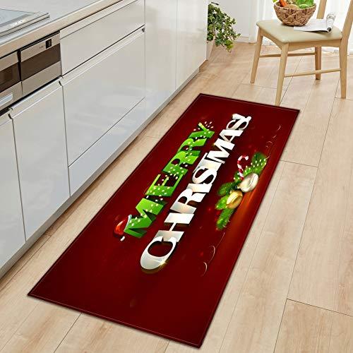 Weihnachten Rechteck Bereich Teppich Fußmatte Eingangsmatte Bodenmatte Küche Wohnzimmer, Holiday Indoor Decor