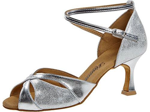 Diamant Mujeres Zapatos de Baile 141-087-463 – Plateado – 6,5 cm Flare