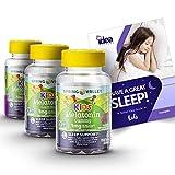 "Spring Valley Vegetarian Melatonin Gummies for Kids, Sleep Support, 60 Ct (3 Pack) + ""Have a Great Sleep - Better Idea Guide"""