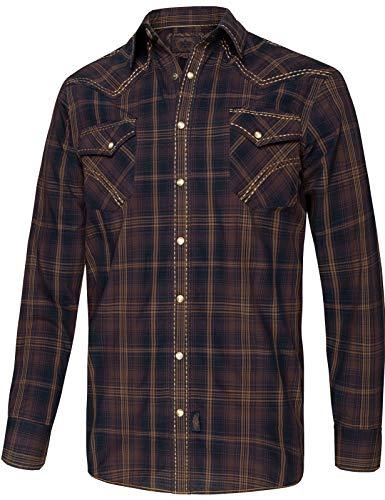 STARS & STRIPES Herren Hemd Westernhemd Biker Country Cowboy Western Westernstyle »Oliver« Gr.XL