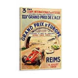 Grand Prix D Europe Reims Poster, dekoratives Gemälde,