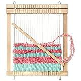 MICKI Webrahmen Viereckig – Webstuhl DIY Set für Erwachsene – Strick Starter-Set für Kinder – Holzgarnspielzeug für Anfänger - Alter 3+ - 30x187x217 mm
