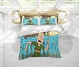 Juego de sábanas California King de 3 piezas, juego de edredón Rick y Morty para cualquier cama o habitación de invitados California King Size