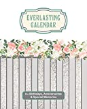 Everlasting Calendar for Birthdays, Anniversaries & Special Memories: Perpetual Calendar of Dates and Events to Remember