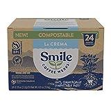 Smile Coffee Werks Compostable Coffee Capsules, La Crema Medium Roast, Compatible with Nespresso (24 Count)