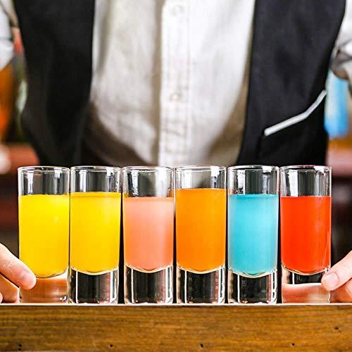 Kaffeetasse Mugs Geschenk 6 Stück Rainbow Cocktail B52 Bomb Shot Glas Bar Party Likör Tequila Depth Charge Mixing Weinglas Schnaps Spirituosen Pulque Cup, 6 Stück, 70Ml