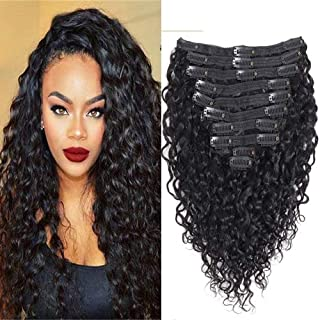 water wave clip in hair extensions
