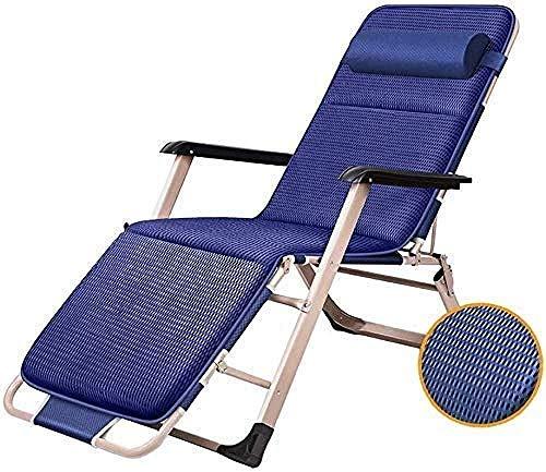 Tumbona de jardín reclinable silla de jardín en el hogar y la cocina, tumbona plegable con cojines de gravedad cero tumbona de patio plegable
