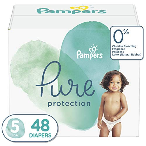 Pampers Pure Protection Diapers Size 5, 44 Count, packaging may vary