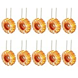 DealMux 10Pcs Toroidale verticale induttore magnetico Monolayer Wire Wind Wound 22uH 5A Inductance Coil
