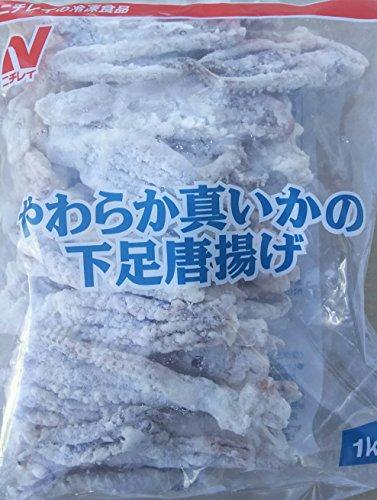イカ げそ唐揚げ 1kg×10袋 業務用 冷凍 やわらか 真イカ 下足唐揚げ