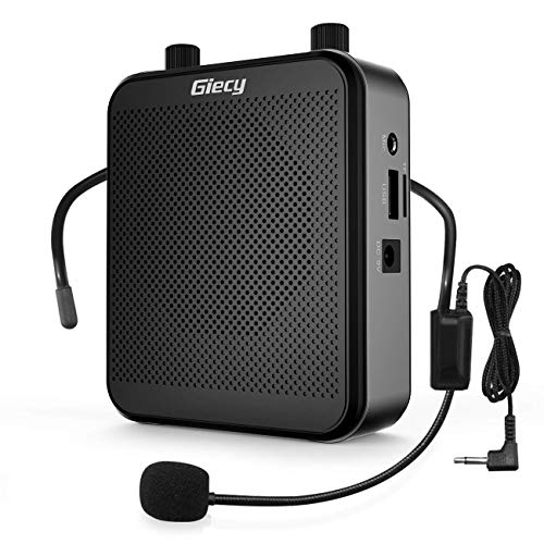 Giecy Portable 30W Voice Amplifiers 2800mAh Large Capacity Rechargeable Battery Bluetooth PA Sytem for Classroom, Meetings and Outdoors