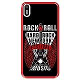 Funda Roja para [ Bq Aquaris X5 ] diseño [ Rock Star - Rock and Roll Vintage Cartel 1 ] Carcasa Silicona Flexible TPU