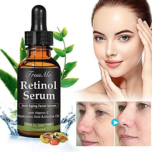 Retinol Serum, HyaluronsäureSerum, Anti-Falten-Serum, Anti-Aging Serum mit 2,5% Retinol, Hyaluronsäure und Vitamin E - für Wrinkles, Fine Lines und Haut Hydratisierung(30ml)