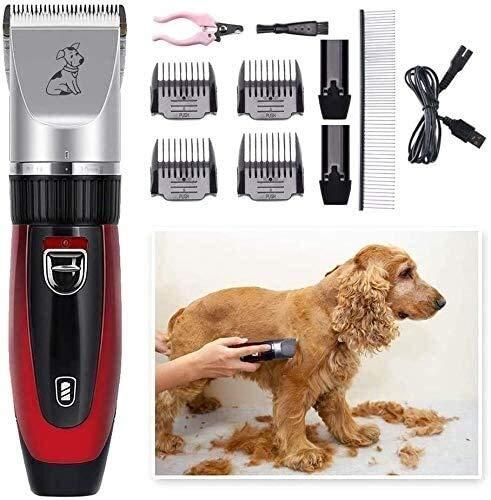 KK Timo 60DB 5 Horas Perro de trabajo Clippers, recargable USB inalámbrico Kit de preparación del perro utilizado como eléctricos Animales de cortar el pelo Tijeras máquina de afeitar for perros y gat