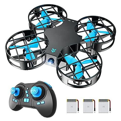 H823H Mini Drone Enfant 21 Mins Autonomie 3 Batteries Avion Hélicoptère,Mode sans Tête, Maintien d'altitude, Opération à Un Bouton, 360°Flips pour Les Débutants et Les Enfants