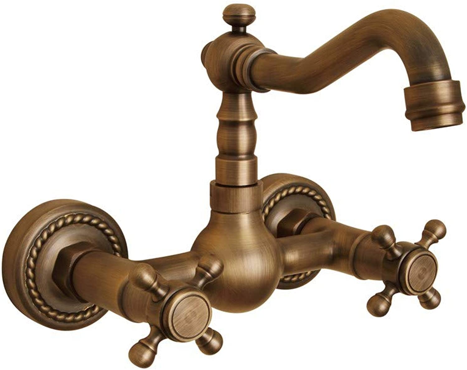 FT-13 Hot and Cold Faucet Retro Faucet Kitchen Bathroom Faucet Single-Connected Antique Copper in-Wall redating Kitchen Mixer Faucet Basin Faucet