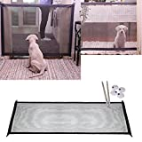 Mascota Perro Red,STRIR Barrera de Seguridad Plegable portátil para Perro, Separador de Seguridad para Perros para Instalar en Cualquier Lugar, Puerta de Seguridad aislada (180cm x 72cm)