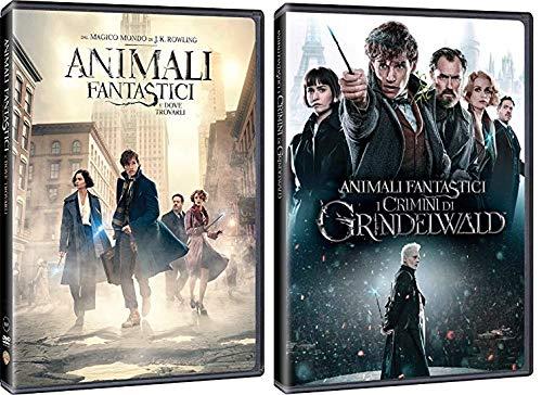 ANIMALI FANTASTICI 1 & 2 - Dove Trovarli + I Crimini di Grindelwald (2 Film in DVD) Edizione Italiana
