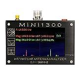 QuRRong Analizador de Antena Analizador De Antena De Vectores De 4.3 Pulgadas 0.1~1300MHz HF/VHF/UHF/Ant/SWR RF Multímetro con Tarjeta TF para Uso en Exteriores (Color : Black, Size : One Size)