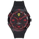 Scuderia Ferrari Orologio Analogico Quarzo da Uomo con Cinturino in Silicone 0830662