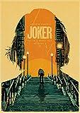 yiyiyaya Joaquin Phoenix Joker Films Wall Art Peinture Impression sur café rétro Affiche Photos Halloween Home Decor 60x90cm