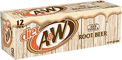 Diet A&W Root Beer 12oz (355mL) - 12 Pack