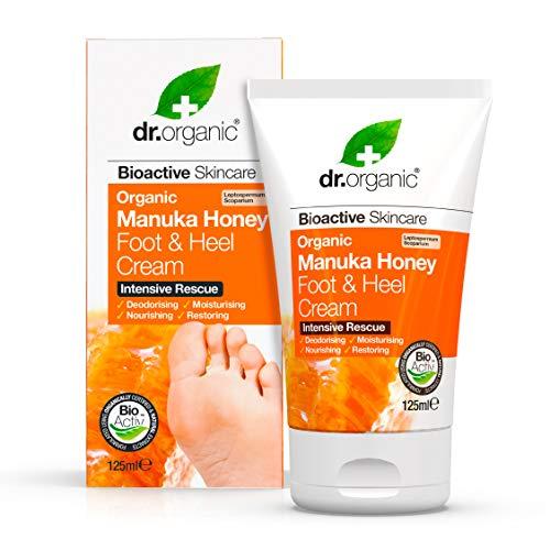 Dr. Organic Manuka Honey Crème pour le Pied et le Talon 125 ml