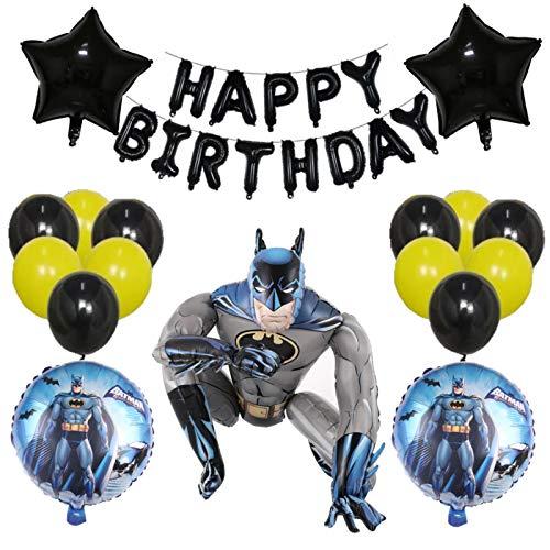 Happy Birthday Set Batman Airwalker Balloon for Kids Birthday Baby Shower Batman Theme Party Decorations