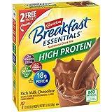 Carnation Breakfast Essentials High Protein Powder Drink Mix, Rich Milk Chocolate, 10 Packets, 6 Count