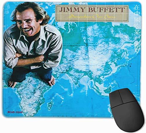 Jimmy Buffet irgendwo über China, komfortabel, Mauspad, geeignet für Büro, Spiele 10X12 Zoll
