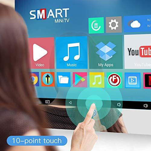 Haocrown Pantalla táctil de 22 pulgadas Smart Mirror TV para baño, IP66 impermeable Android Televisión integrado Wi-Fi Bluetooth altavoces HDMI USB (pantalla táctil, marco de espejo)