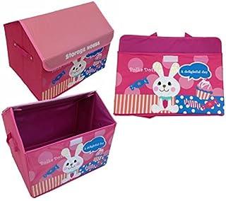 GMMH Design Boîte à Jouets Maison Lapin 42cm x 31cm x 34cm Boîte de Rangement Boîte à Jouets Rangement Tonne Meubles po...