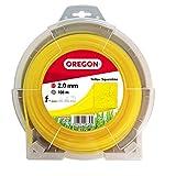 Oregon 69-408-Y Corde de débroussailleuse carrée Jaune 2,0 mm x 108 m