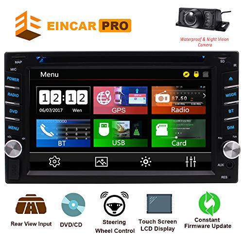2 Din-Autoradio mit Touchscreen Bluetooth-Autoradio im Dash Car CD-Player AM / FM-Radioempfänger-Unterstützung Kostenlose GPS-Navigationskarte & Spiegelverbindung & Rückfahrkamera & Lenkradsteuerung