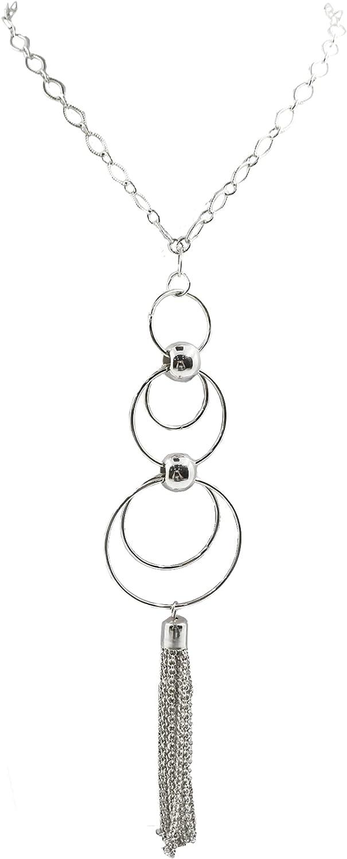 Roamans Women's Plus Size Chain Tassel Pendant Necklace