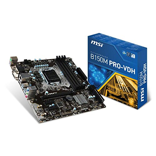 MSI Mainboard B150M PRO-VDH Socket LGA1151 4X DDR4 max 64GB VGA DVI HDMI mATX