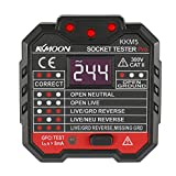 KKmoon Advanced RCD Electric Socket Tester Automatic Neutral Live Earth Wire Testing Circuit Polarity Detector...